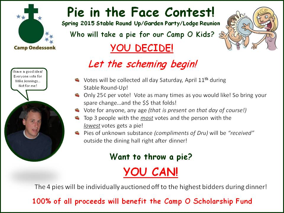 Camp Ondessonk Pie In The Face Contest