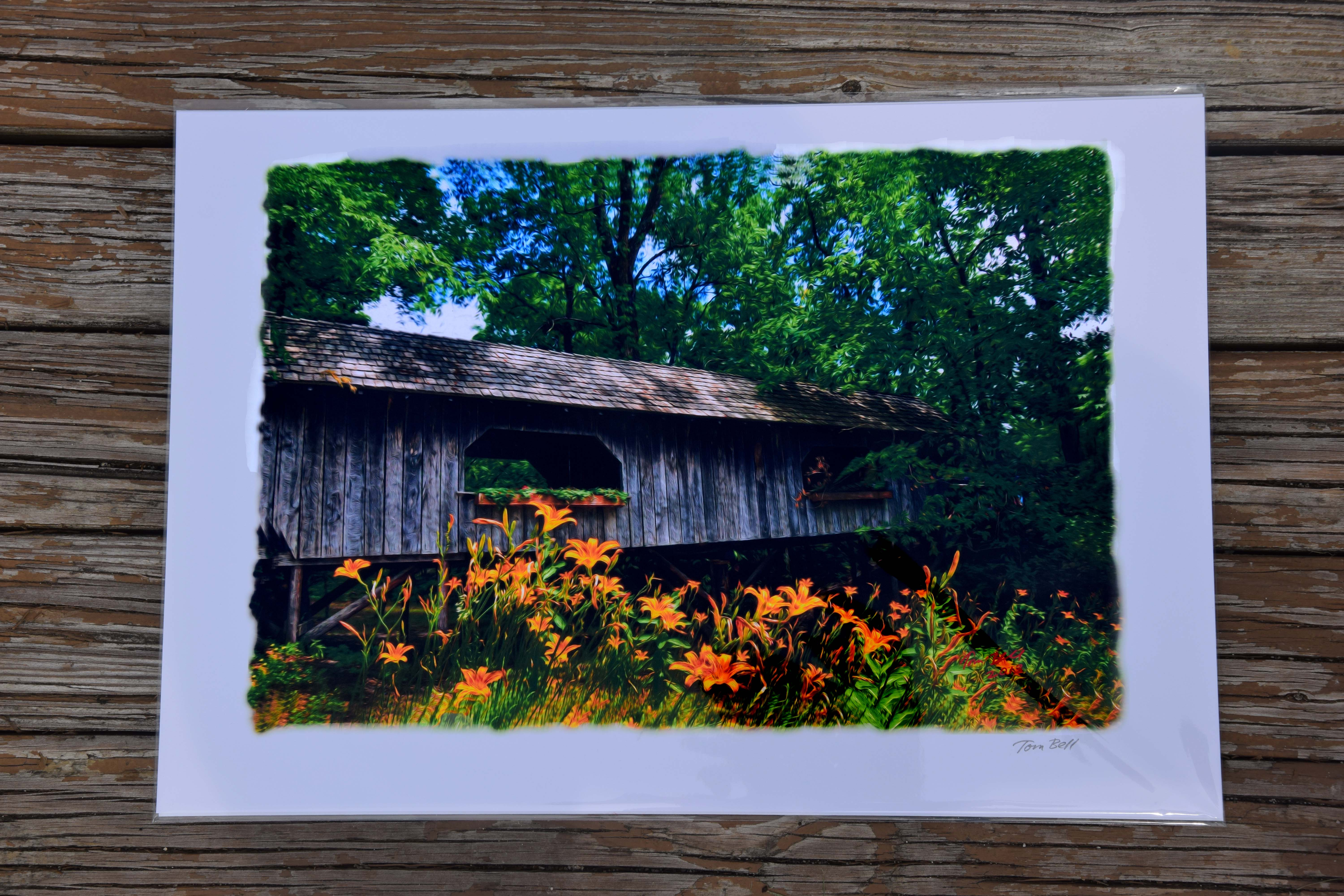Covered Bridge by Tom Bell