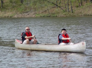 Father Son Weekend Camp Ondessonk Canoeing