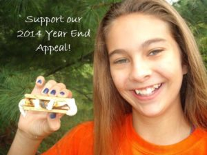 Support the 2014 Camp O Year End Appeal